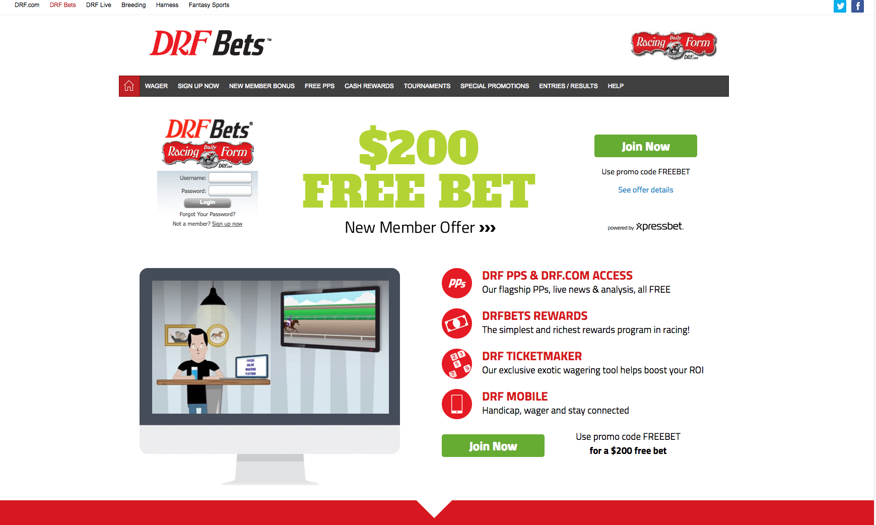 Drf bets review with bonus code track information and rating drfbets falaconquin